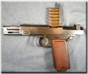 1912 M Steyr 9mm, 8 lőszeres töltőléccel tölthető